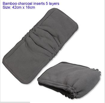5 слоя 1 шт. уголь хлопок ткань пеленки вставки подгузник пеленания детские подгузники ...