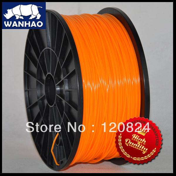 Wanhao 3d printer 1.75mm Orange Pla filament