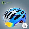 Rockbros Cycling Helmet Outdoor Sports Women Men Head Protector Bike Bicycle Helmet Integrally Molded Goggles Helmet