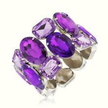 New Arrival Crystal Bracelets & Bangles Rhinestone Beads Stretch Bracelet Lady Gift Jewelry S033(China (Mainland))