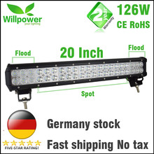 FREE TAX 12v dual rows CREEs led driving light IP67 waterproof work light 126W 20 inch offroad car led light bar(China (Mainland))