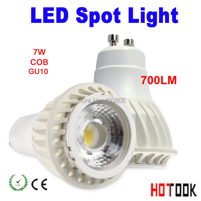 LED Spot Light COB  non-dimmable 7W GU10 led High Power gu 10 700lm High lumen  led Lamp,White gu10 led spotlight led X 10PCS<br><br>Aliexpress
