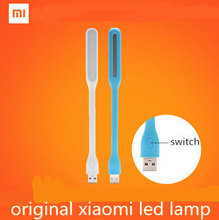 Upgrade!With Switch Original Xiaomi USB Light Xiaomi LED Light with USB for Power bank/comupter Portable Shining Led Lamp(China (Mainland))
