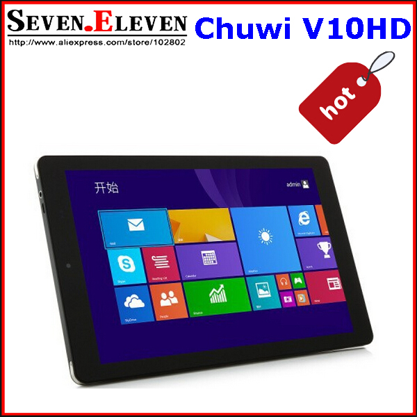 IPS Original Chuwi V10HD Tablet PC 3G 10.1Inch Intel Z3735F Quad Core Dual OS Windows 8.1+Android 4.4 5.0MP Camera GPS In Stock(China (Mainland))