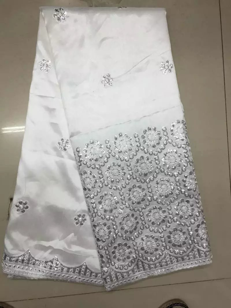 Popular white dress lace fabric buy cheap white dress lace for Georges chakra gold wedding dress price