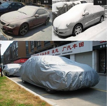 Retail CPAM free shipping silver car covers, Dustproof, Resist snow