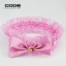 Buy Girls Pink Princess Elastic Hair Bands Lovely Bow Design Tiaras Elastic Hair Accessories Children Hair Ornaments HW047 for $1.28 in AliExpress store