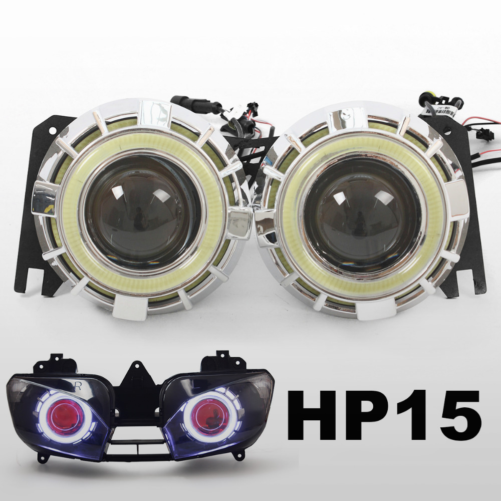 HID Projector Kit Suitable For Yamaha YZF YZF R6 1999 2000 2001 2002 Angel Halos Lenses Eyes Demon Red Headlight<br><br>Aliexpress