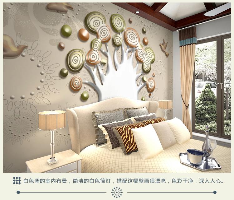 3d video wall mural living room tv background wall paper - Revetement mural salon ...