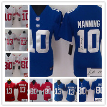Signature WOMEN PINK Love New York Giants ladies 10 Eli Manning 13 Odell Beckham Jr. 80 Victor Cruz Embroidery Logos(China (Mainland))