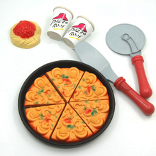 Pizza Party House Toys Food Simulation Tableware For Children 18cm(China (Mainland))