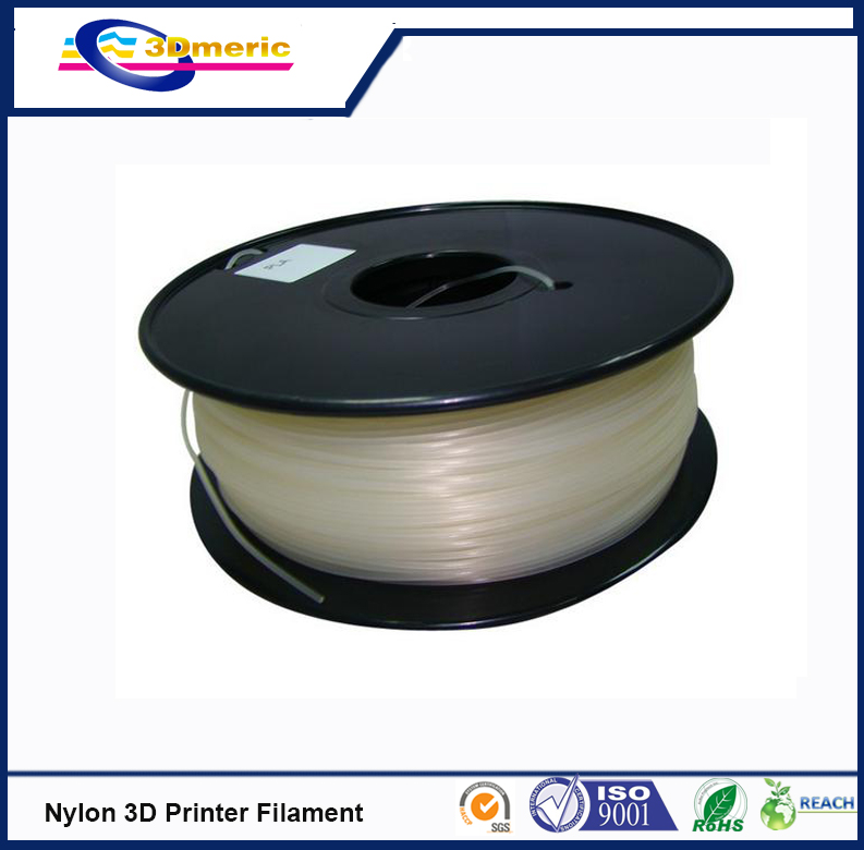 PA Nylon For MakerBot RepRap UP Mendel 3D Printer Filament 1KG Spool Crystal PA Nylon Filament