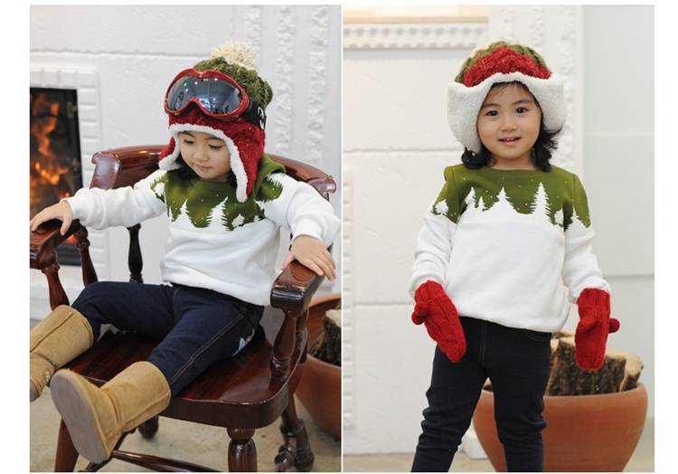 Free Shipping 2015 Family Christmas Cotton Warm Autumn Winter Mother Dad And Kids Long-Sleeve T-shirt Family Clothes Set  HTB1FuQiGVXXXXb7XXXXq6xXFXXX4