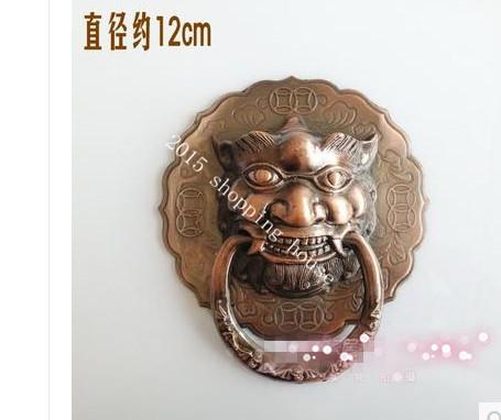 Furniture Handle Lion head handle large courtyard outdoor door handle Chinese style door handle 12cm(China (Mainland))