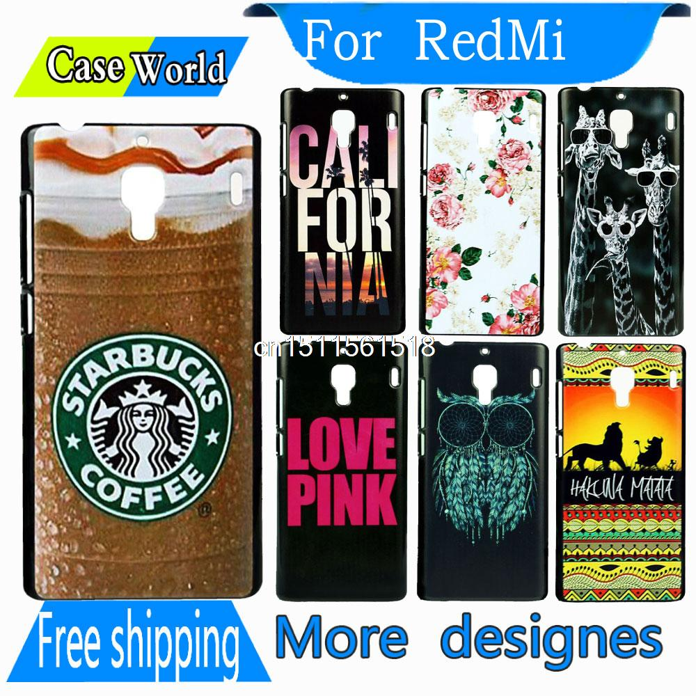 Vertical 2015 dir proof Starbucks Ice Coffee New Hard back Phone Snap Cover Case For Xiaomi Redmi 1s Red Rice 1S Hongmi(China (Mainland))