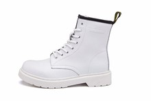 Big Size 10~13 Real Leather Martins Men Women Boots