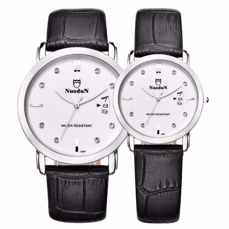 Nuodun Простые Наручные Часы 2016 Мода Часы Женщины Водонепроницаемый Дамы Платье Кварцевые Часы Моды Часы Relogio Feminino