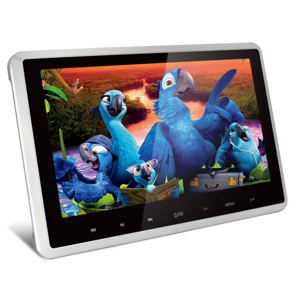 Pumpkin 10 inch Car Headrest monitor HD Digital TFT Touch Button Car DVD Player Ultra-thin IR HDMI 1080P with Remote 1024*600