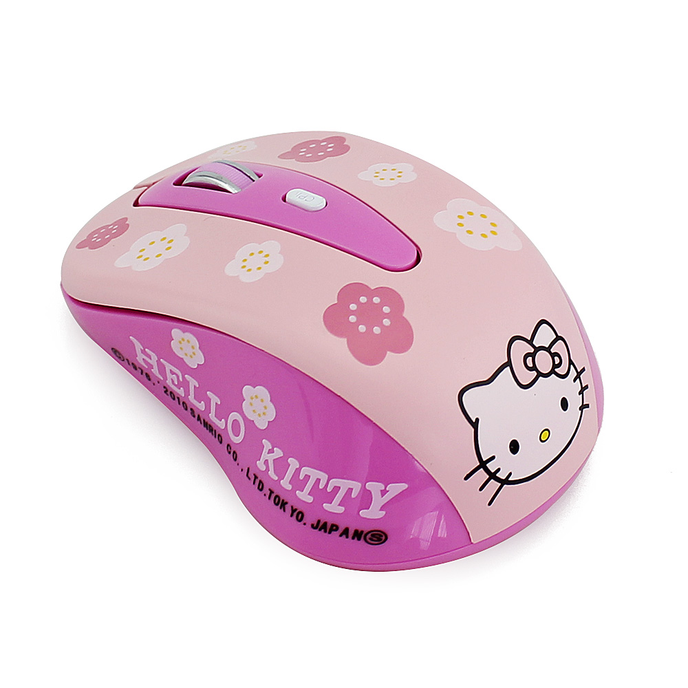 Free Shipping Nano Cordless Cheap Mause Sem Fio Pink Hello Kitty Wireless Mouse for Women 2.4G Adjustable with 800-1000-1600 DPI(China (Mainland))