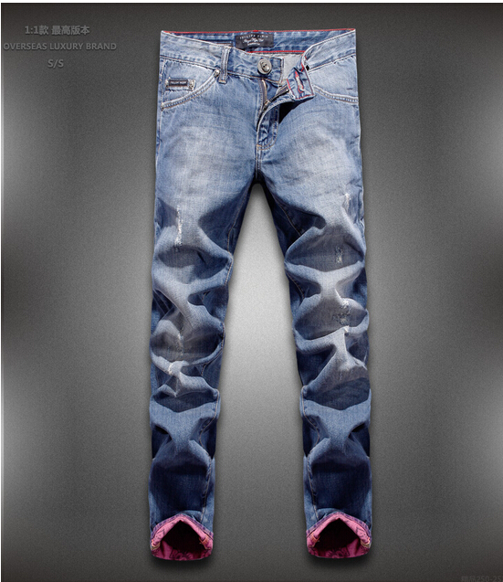 Free shipping men brand name jeans men famous brand and men jeans leisure denim 28-34(China (Mainland))