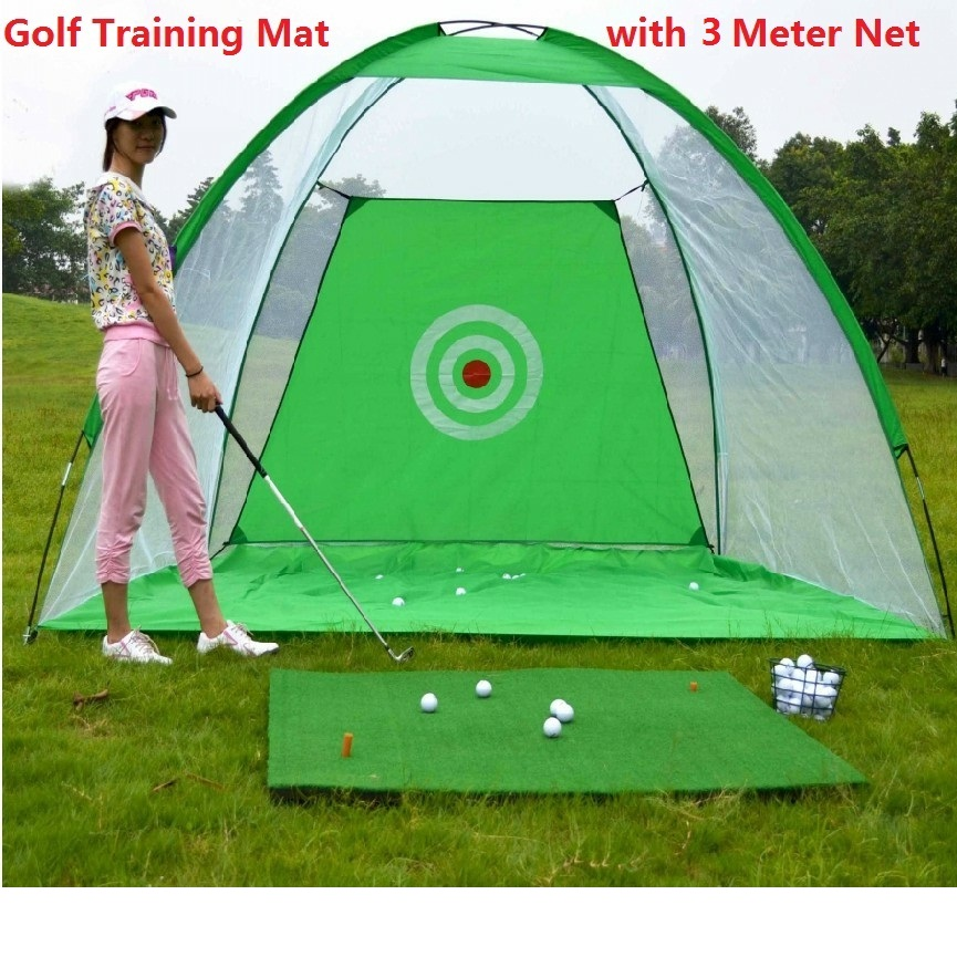 3Meter Golf Training Cages with 4ft Chipping Driving Practice Mat Golf Kitting Aids(China (Mainland))