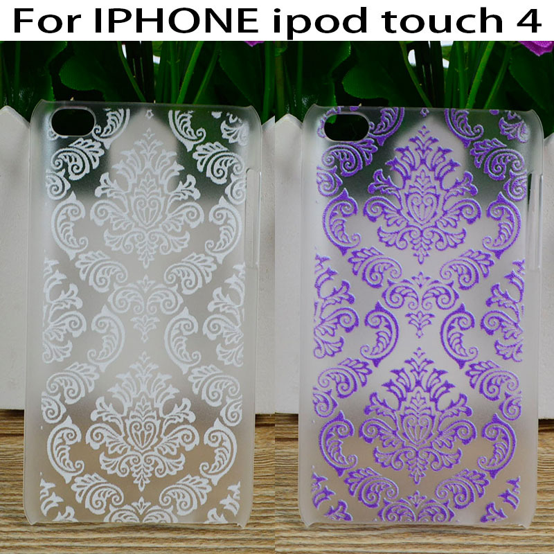 DIY Hard Plastic Phone Cases For Apple iPod Touch4 touch 4 Covers Vintage Paisley Flower Floral 4 Colors 2016 Top Rated Housing(China (Mainland))