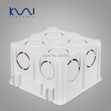 Wall Mounting Box, 86 Internal Cassette, Wiring Box, White Back Box for 86mm*86mm()