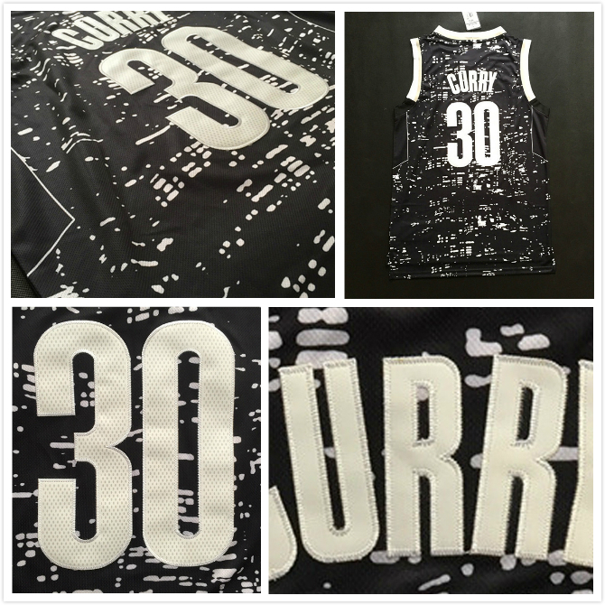 Men's Golden State #30 Stephen Curry Black City Lights Basketball Jersey, Cheap Stephen Curry White Black City Lights Jersey(China (Mainland))