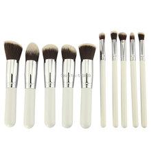 10PCS High Quality Makeup brushes New Maquiagem Beauty Black Head Cosmetics Foundation Blending Make up Blush Wooden Makeup Tool(China (Mainland))