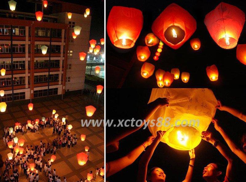 Kongmin light wholesale Super kongmin light Wishing light sky lanterns large flame retardant outdoor fun & sports(China (Mainland))
