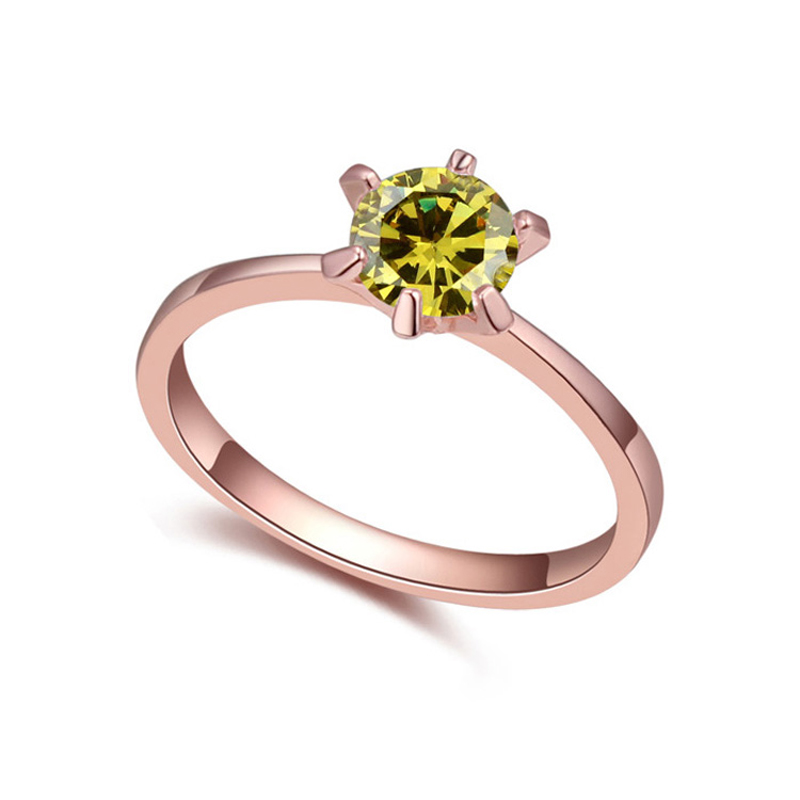 Real Austrian Crystals Brand 18K gold Plated AAA Zirconia Micro Inlays Fashion Ring for women New Sale Hot 110362GoldOlive(China (Mainland))