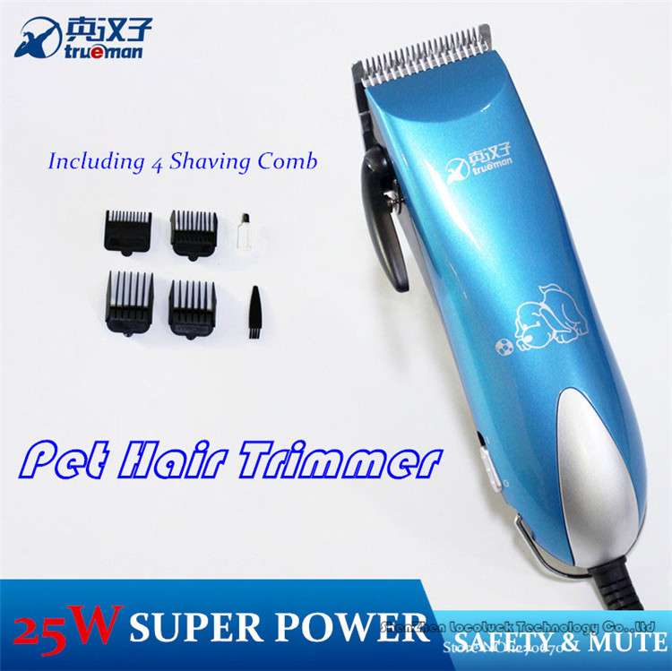 Free Shipping 2015 New Arrival 25W Professional Pet Dog Hair Trimmer Grooming Clipper Cat Animal Hair Clipper Limit Comb Kits(China (Mainland))