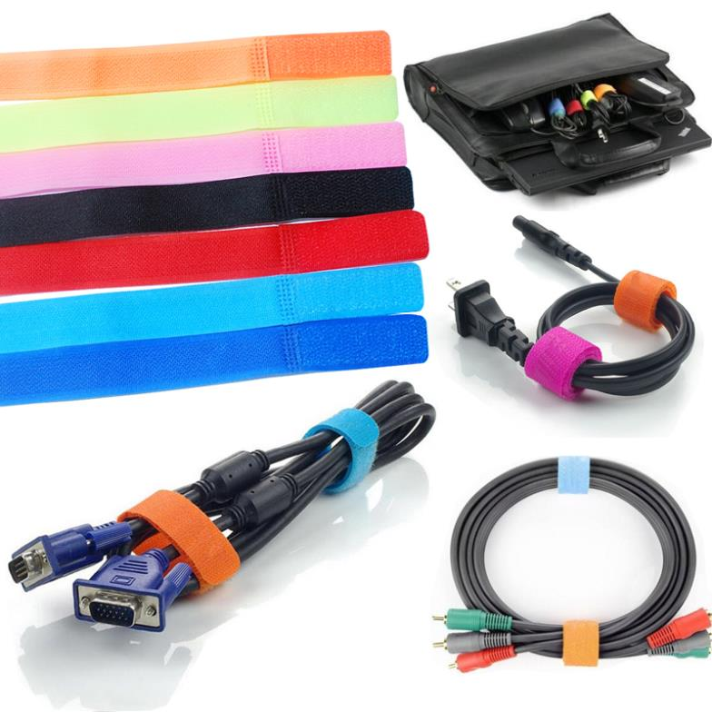 1 PC 5 Colors Magic PC TV Computer Wire Cable Ties Organizer Velcro Maker Holder Management Straps(China (Mainland))