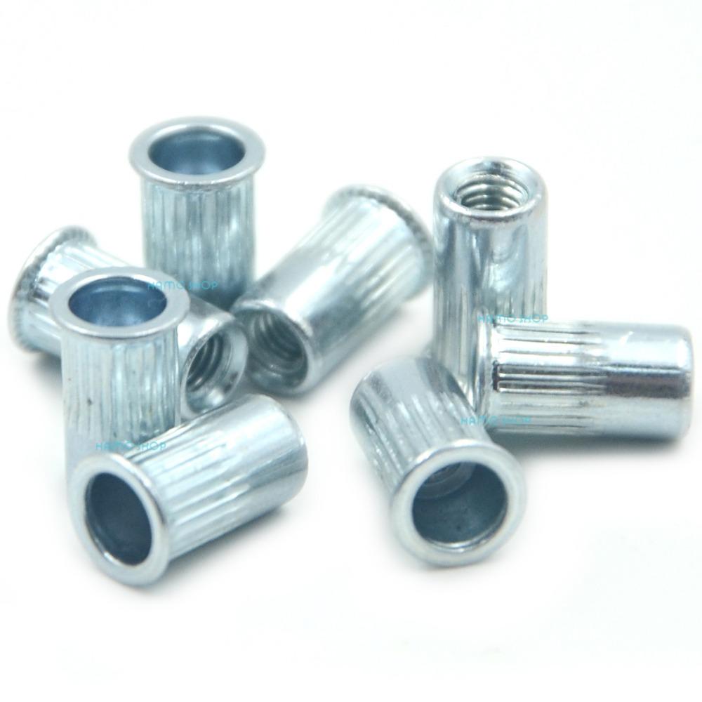 100pcs M3 Rivet Nut Normal Head Nutserts Blind Insert Rivnut Steel Threaded Multi<br><br>Aliexpress