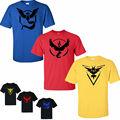 Pokemon Go Team shirts Men Shorts Sleeve Summer male Tops Tees Casual shirts For Man Pokeball