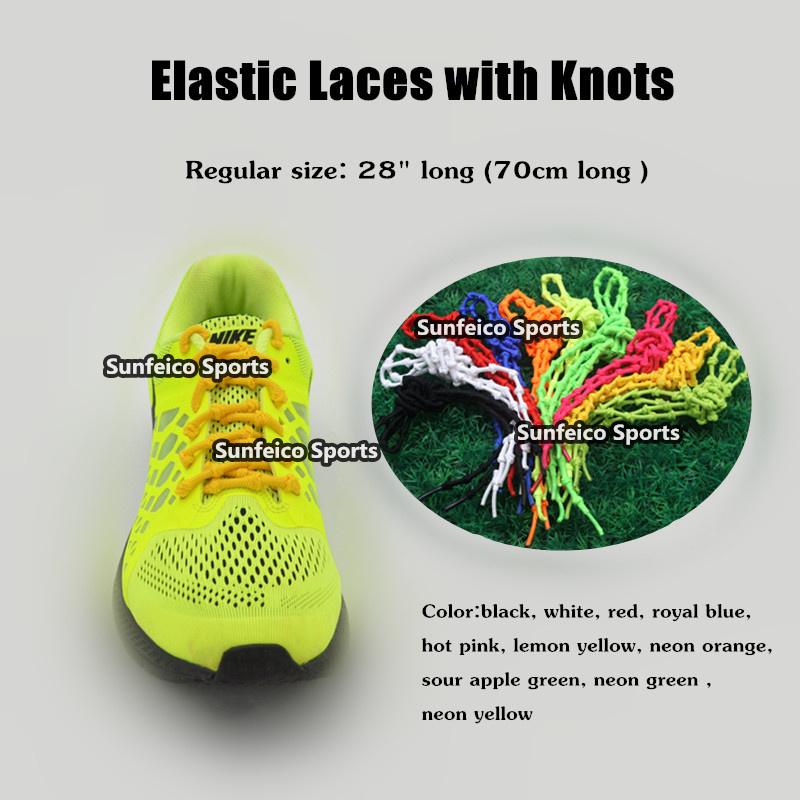 Здесь можно купить  500 pairs/lot~10 Colors~No Tie Elastic Laces with Knots~No Tie-Elastic-Run/Triathlon-New~Elastic Lazy Quick Shoelaces~DHL Free  Обувь