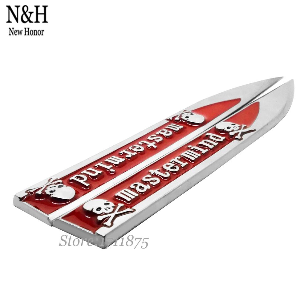 Fender Side Metal Emblem Badge Sticker Car Decal Sticker Auto Accessories For TRANSFORMERS SPORT Mastermind Skull Evil Umbrella(China (Mainland))