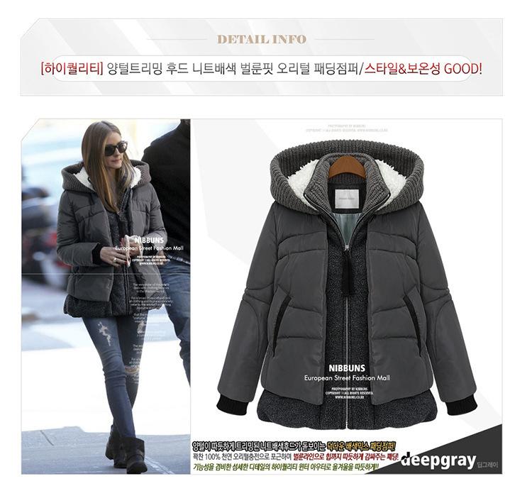 2014 winter jacket women plus size thickened long sleeve hooded cotton padded coat fashion - ham liu's Fashion clothing store