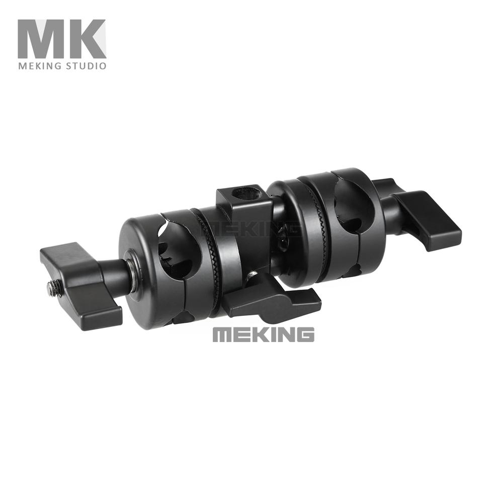 Selens Photo Studio Lighting accessory M11-033D Light Stand Double Pivoting Boom Clamp(China (Mainland))