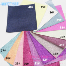 46PCS---20X22CM PER PCS DIY High Quality Glitter Leather synthetic leather &Fabric ,46 PCS/SET(CAN CHOOSE COLOR)(China (Mainland))