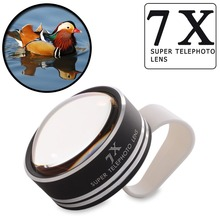 Universal Clip 7X Telephoto Telescope Phone Camera Lens for iphone 6 4 5S Samsung Cell phones Optical Telescope Lens APL-7XST