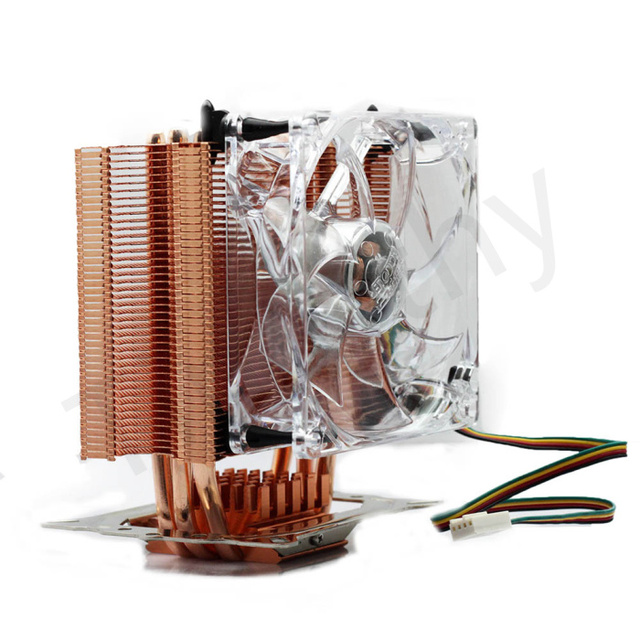 HOT SALE FREE SHIPPING  4PIN Copper Heatpipe DC 12V CPU Heatsinks Cooler Cooling Fan For Intel LGA /AMD  1PC#FS032