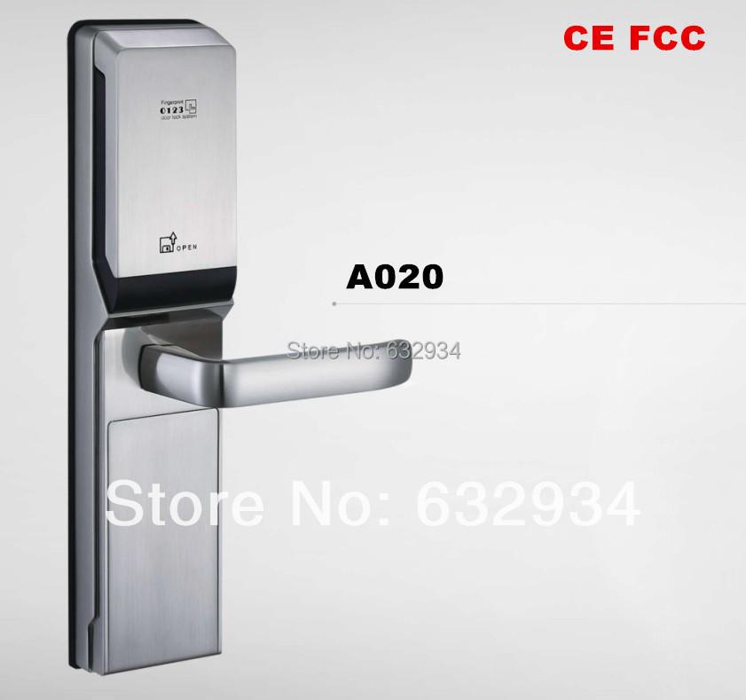 FINGERPRINT PASSWORD MECHANICAL KEY RECURITY SMART DOOR LOCK(China (Mainland))