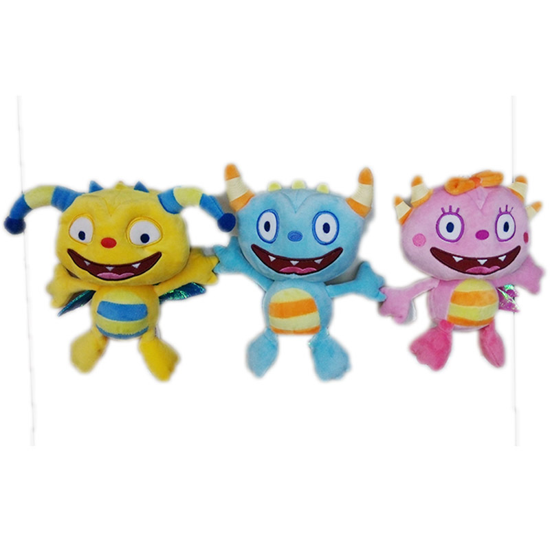 NEW Henry Huggle Monster TV Movie Cartoon plush toy 3pcs/lot The Hugglemonsters Plush Stuffed Plush doll toy gift for kids(China (Mainland))