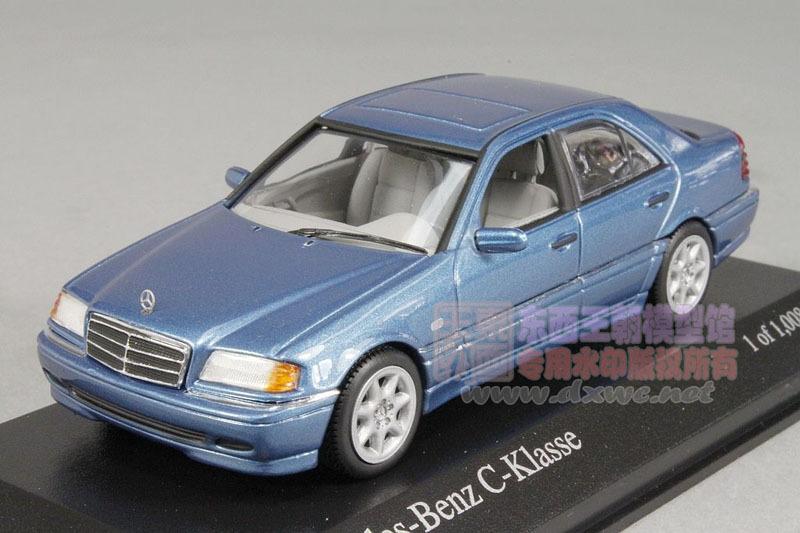 Mercedes-Benz C-CLASS W202 Minichamps 1:43 1997 BENZ automotive mannequin alloy diecast assortment toy boy present blue free delivery