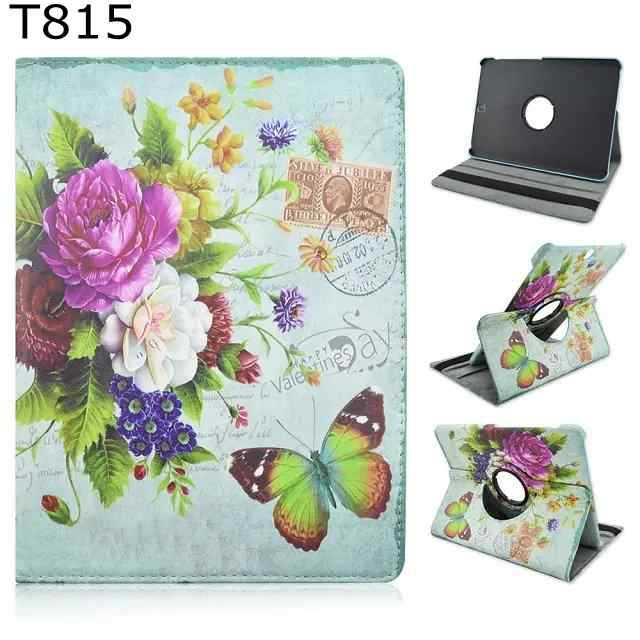 Fashion Chinese flower tree 360 Rotating PU Leather Stand Holder Case Cover for Samsung Galaxy Tab S2 9.7 SM-T810 T815 t810<br><br>Aliexpress
