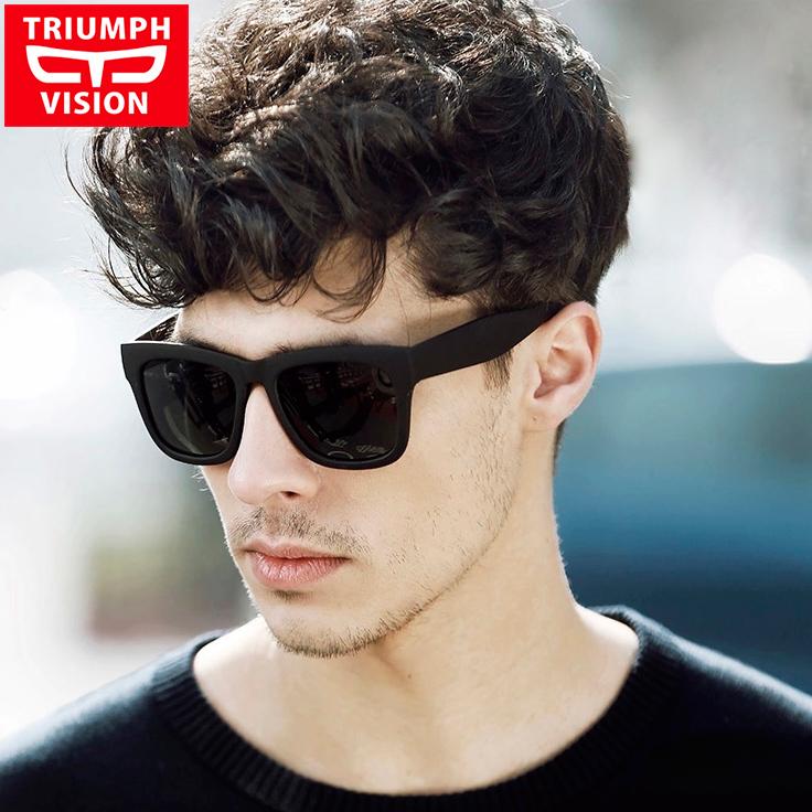TRIUMPH VISION Male Polarized Sunglasses Men Brand Black Square Shades UV400 Polaroid Sun Glasses For Men Cool Oculos Lunette(China (Mainland))