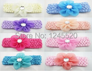 2014 New Hot selling Children's Baby Girl's ribbon Headbands Five Flowers Hair Acessories Headwear(China (Mainland))