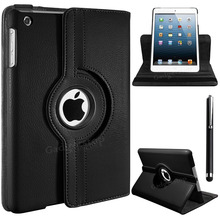 360 Rotating PU Leather Case Cover Stand For Apple iPad mini 1 2 3 Premium Quality - FREE Protector & Stylus(China (Mainland))