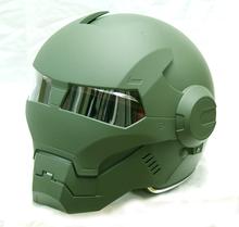 Mary Star child helmet MASEI ATOMIC-MAN Iron Man 610 motorcycle helmet half helmet matte green(China (Mainland))